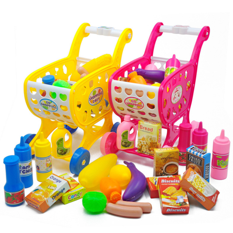 Bellissimo Nuovo 1 Pz Set Bambini Bambini Mini Carrello Di Plastica Simulare Supermercato Carrello Pretend Gioca Giocattoli Classic Toys Gioca Giocattolo Bambini