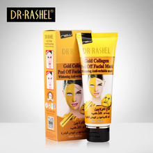 купить 2 pcs Gold Collagen Facial Mask Peel Off Masks Face Masker Whitening Masque Anti Wrinkle Anti Aging DR RASHEL 120 ml онлайн