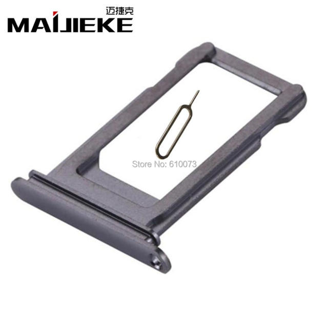 new style 9cb60 a68fc US $6.2 |MAIJIEKE New Black Sim Card Tray For iPhone X Sim Card Slot Holder  Replacement Repair Parts+Eject Pin-in SIM Tool Suits from Cellphones & ...