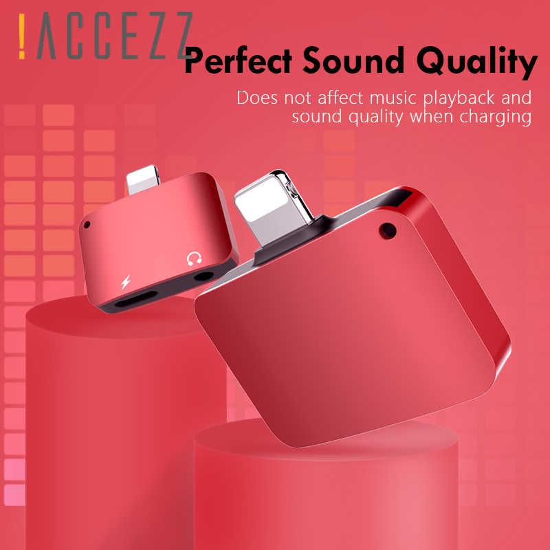 ! ACCEZZ سماعة محول للشحن آيفون الإضاءة 7 8 XR XS ماكس 3.5 مللي متر جاك سماعة AUX شاحن الاستماع محول موصل