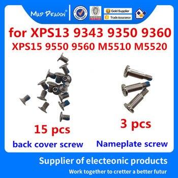 15 ฝาครอบด้านล่างสกรู/3 แผ่นสกรูสำหรับ Dell XPS13 9343 9350 9360 XPS 15 9550 9560/Precision m5510 M5520 เงินสกรู