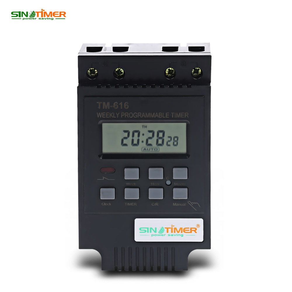 SINOTIMER 220V Control Power Timer AC Timer Switch Control Output control: 30A 250V AC Time Relay Electronic Instrument thc15a zb18b timer switchelectronic weekly 7days programmable digital time switch relay timer control ac 220v 30a din rail mount