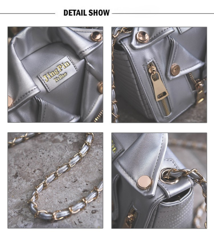 Promotion!Free Ship Hot Brand Designer Motorcycle Bags Women Clothing Shoulder Jacket Bags Messenger Bag Women Leather Handbags (3)