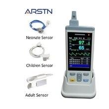 3.5 TFT 1 או 3 חיישן SpO2 + PR כף יד דופק oximeter למבוגרים ילדי ילוד חיישן Oximetro לב מדרג צג