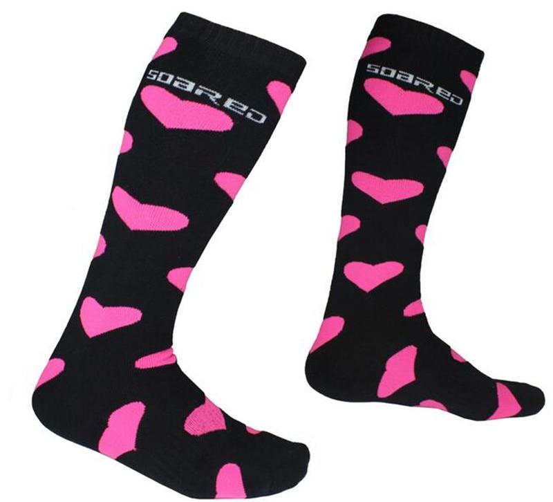 Winter Thermal Ski Socks Women Cotton Snowboard Cycling Socks Super Warm Thick Knee High Socks Leg Warmers Outdoor Sport Socks