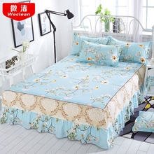 Bed skirt Bedcover Floral Fitted Sheet Cover Bedspread Bedroom Home Textile Skirt Cubrecama Single Full Queen Bedspread
