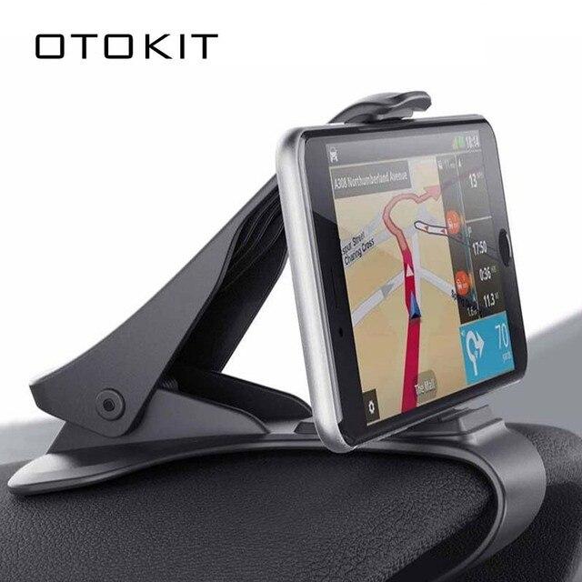 6.5inch Dashboard Auto Telefoon Houder Gemakkelijk Clip Mount Stand Auto Telefoon Houder GPS Display Beugel Klassieke Zwarte Auto Houder ondersteuning