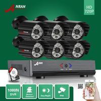 8CH HD 1080N HDMI Video AHD DVR 6 CCTV IP66 Day Night Home Security Camera System