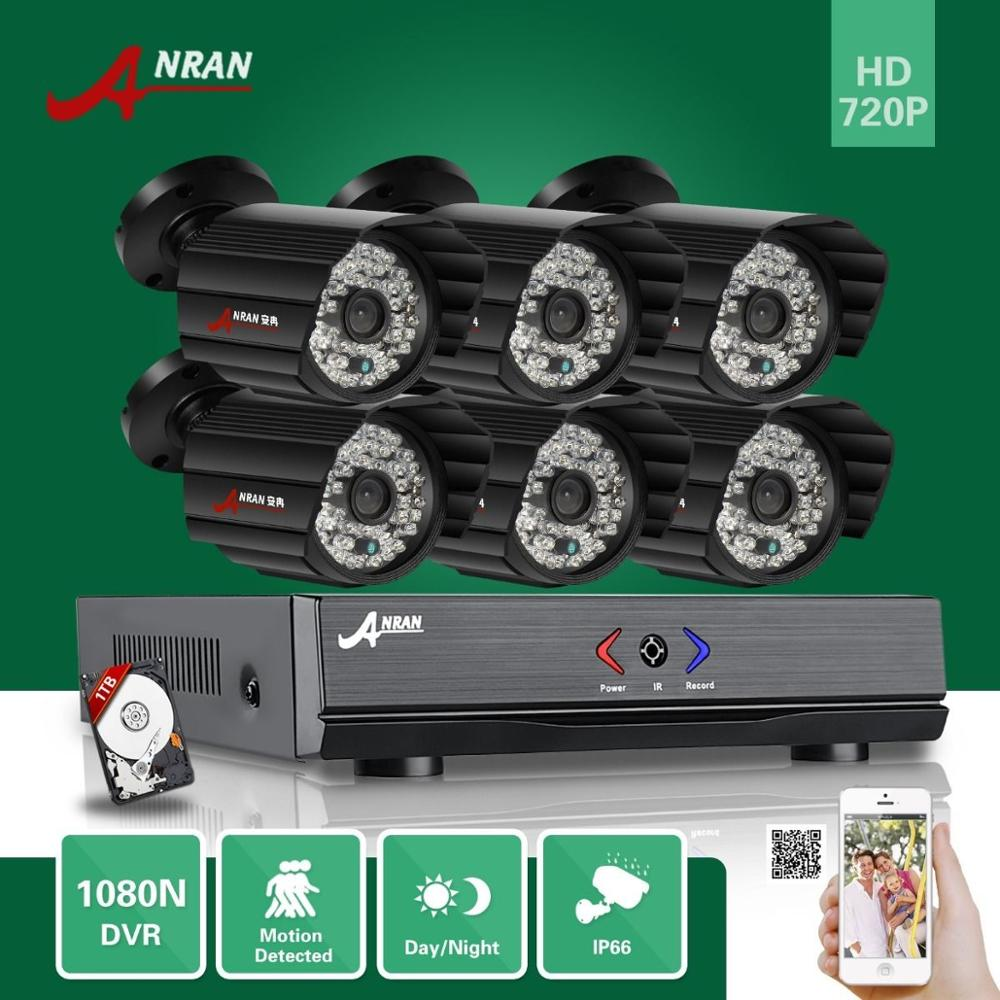 8CH HD 1080N HDMI Video AHD DVR 6 CCTV IP66 Day Night Home Security Camera System