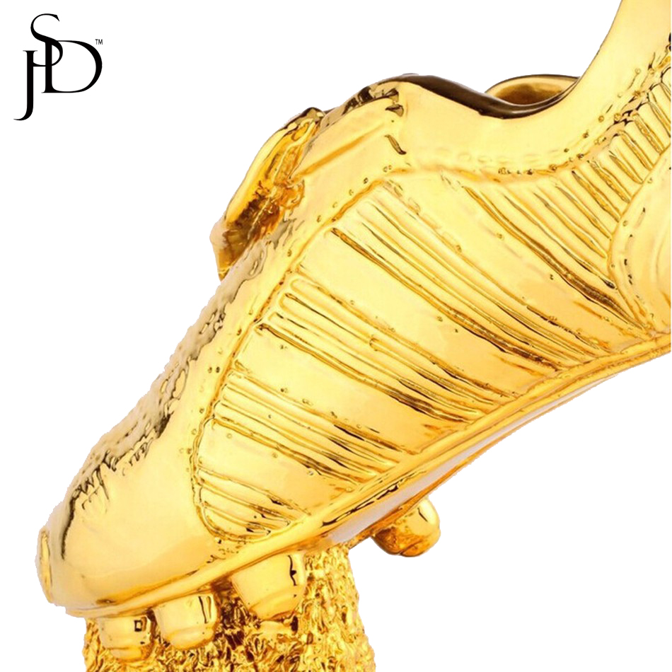 18k All Gold Resin Football Boot Champions Award Shoes The Best Player  Trophy Cup Fans Souvenir Collectibles 28cm 1.7kg-in Sports Souvenirs from  Sports ... 7c3fe1568