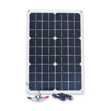 XINPUGUANG Solar Panel 12V 20W USB Monocrystalline with Car Charger for Outdoor Camping Emergency Light Waterproof