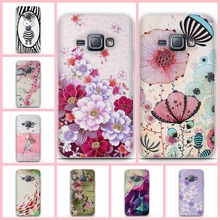 For Samsung Galaxy J1 2016 Case Silicone Back Cover Case For Funda Samsung J1 2016 J120 J120F Cover Coque 3D Flower Phone Cases