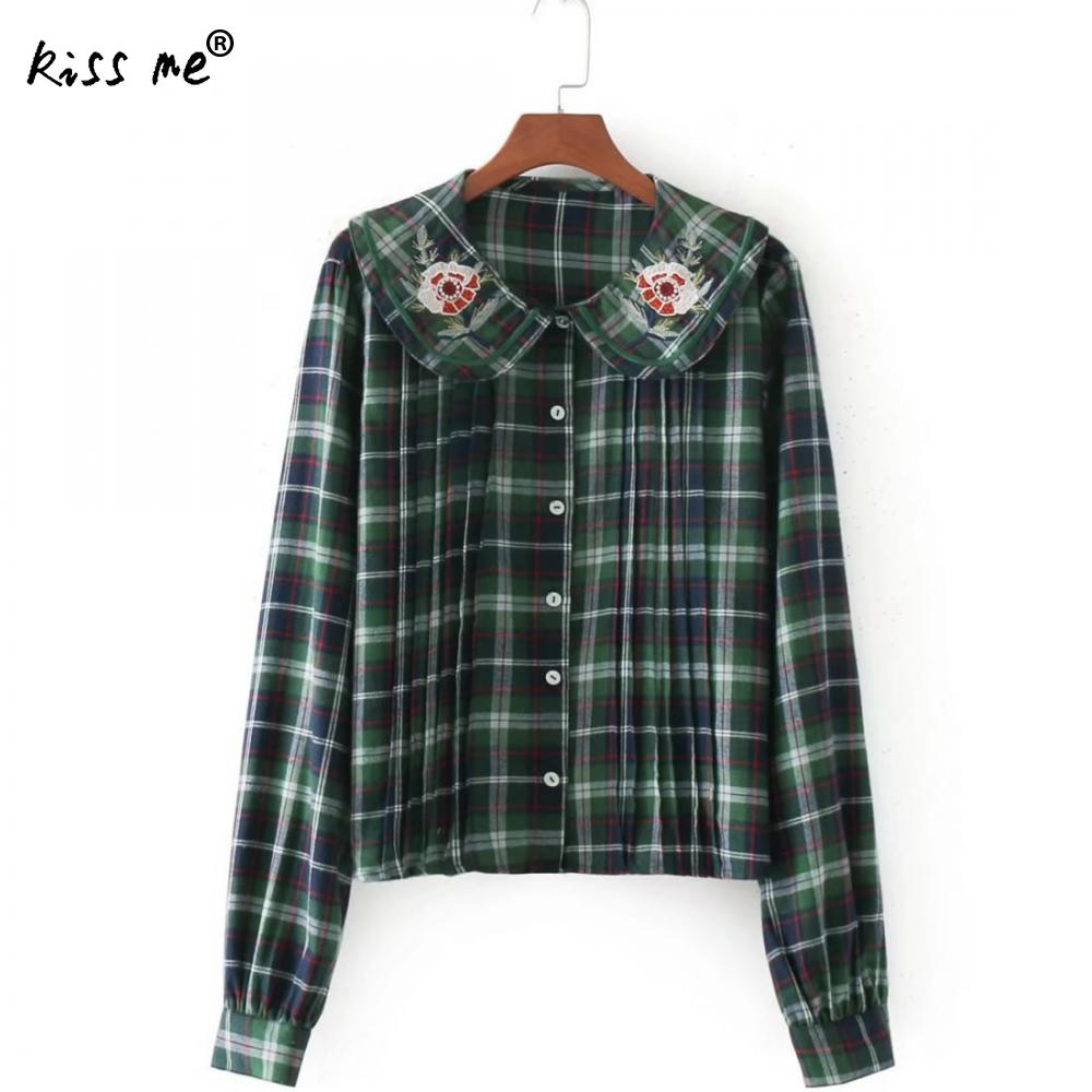 Online Get Cheap Green Plaid Shirt Womens -Aliexpress.com ...