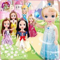 Lelia Beautiful Snow White Princess Doll Pvc Anime Fashion Girl Dolls Figure Collections for Children Birthday Party Kawaii Kids