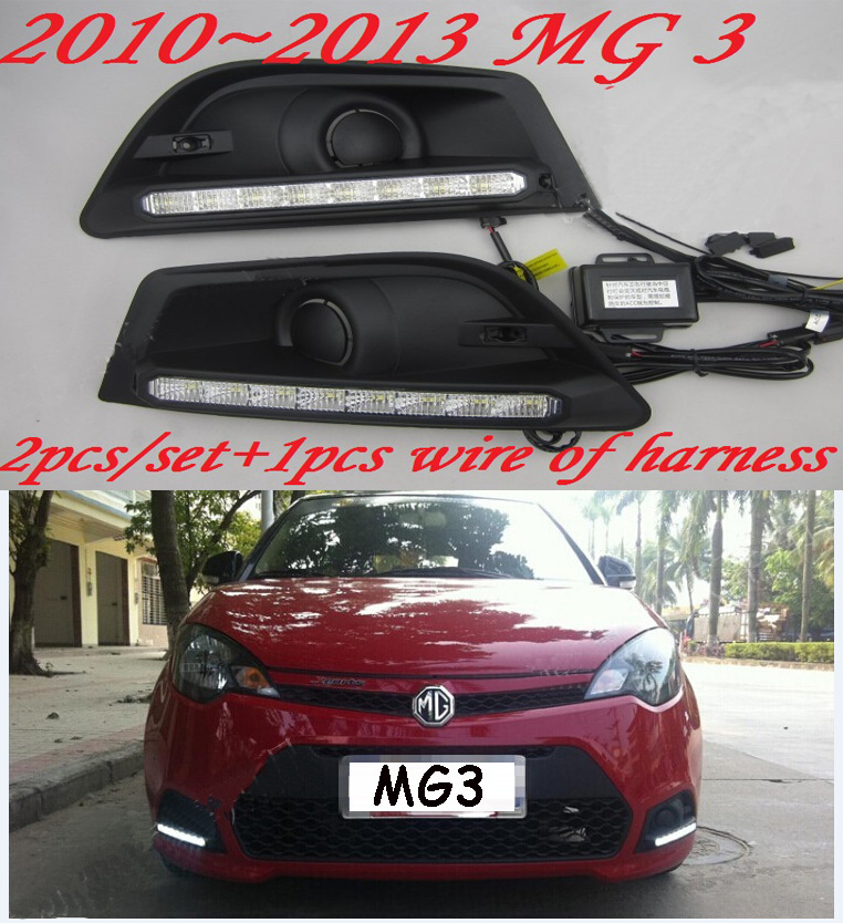 Car-styling,MG3 day light,2009 2010 2011 2012 2013year,LED,Free ship!2pcs,car-detector, MG3 fog lamp,car-covers,GS,MG6,MG5,MG 3 car styling golf6 taillight 2011 2013 led free ship 4pcs golf6 fog light car covers golf7 tail lamp touareg gol golf 6