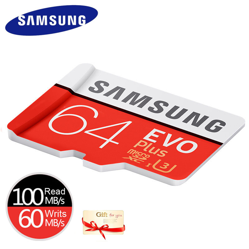 SAMSUNG EVO Plus Micro SD 32G MicroSDHC Class10 Memory Card UHS-I TF/SD Cards Trans Flash MicroSDXC 64GB 128GB For Smart Phones
