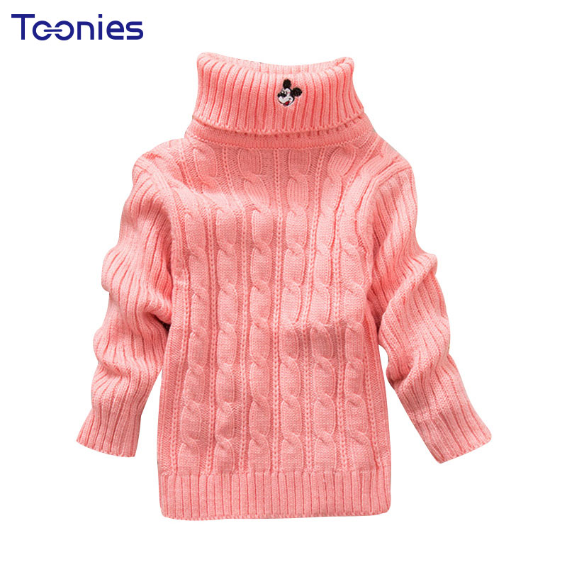 New Fashion Toddler Baby Warm Turtleneck Sweater Children