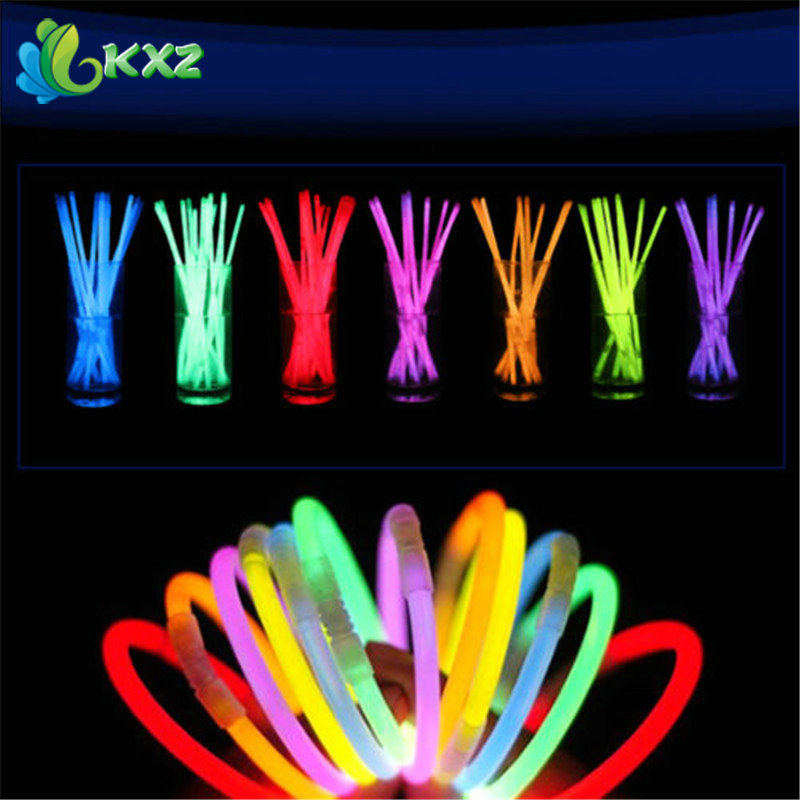 100pcs 8 Multi Color Glow Light Stick Bracelets Necklace