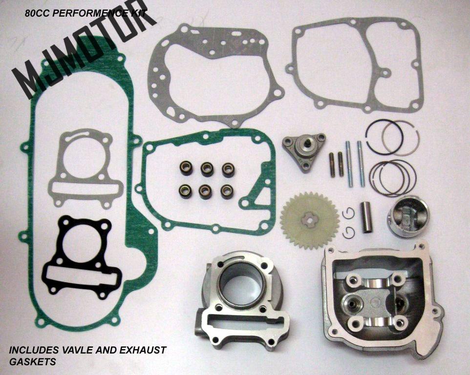 Kits de gran diámetro 80cc de alto rendimiento para 139QMA / B GY6 - Accesorios y repuestos para motocicletas - foto 1