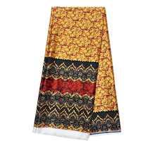 Новый материал африканская атласная шелковая ткань высокое качество