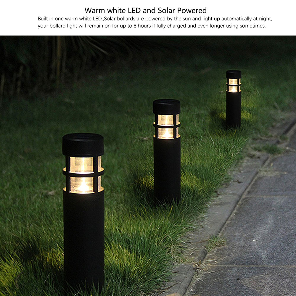 Superbe 6PCS/lot Solar Outdoor Garden Path Lawn Light Black Plastic Solar Bollard  Light Warm White Solar Lamp In Solar Lamps From Lights U0026 Lighting On ...