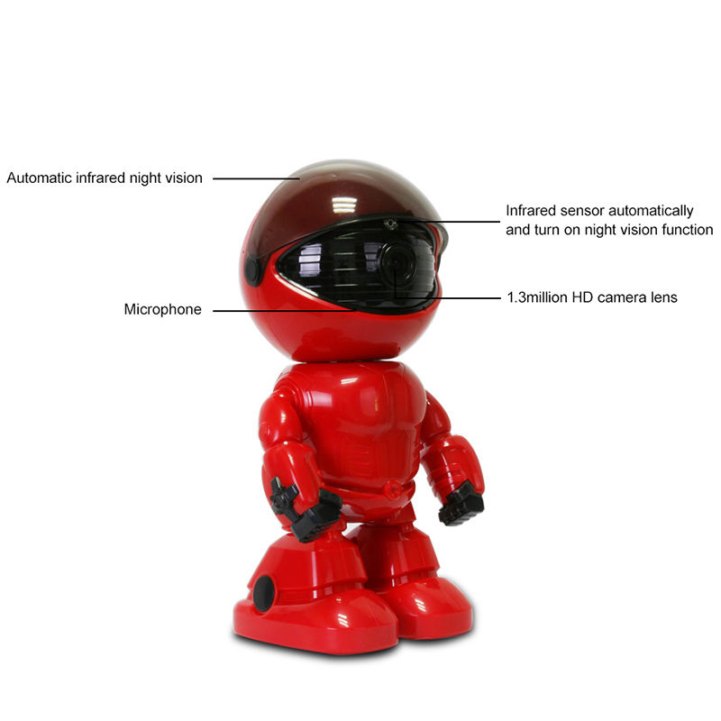 HD 1080P WiFi Robot IP Camera Pan Tilt Security WiFi Camera Support P2P Night Vision Motion Detection Two Way Audio+TF Card Slot цена
