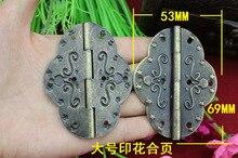 50Pcs 69 * 53MM hinge / antique hinge / printing hinge / hinge large oval tin