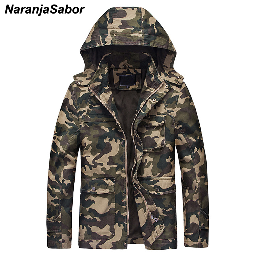 NaranjaSabor Autumn Winter Men's Military Jackets Camouflage Thick Men Casual Outerwear Windbreakers Army Tactical Clothing N441-in Jackets from Men's Clothing    2