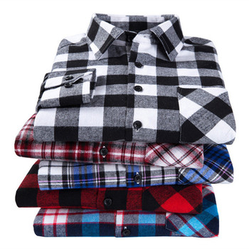 2019 New Men's Plaid Flannel Shirt Plus Size 5XL 6XL Soft Comfortable Spring Male Slim Fit Business Casual Long-sleeved Shirts 1