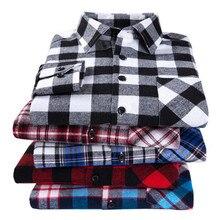 2019 nueva camisa de franela a cuadros para hombre talla grande 5XL 6XL suave cómoda primavera hombre Slim Fit negocios Casual largo camisas de manga larga