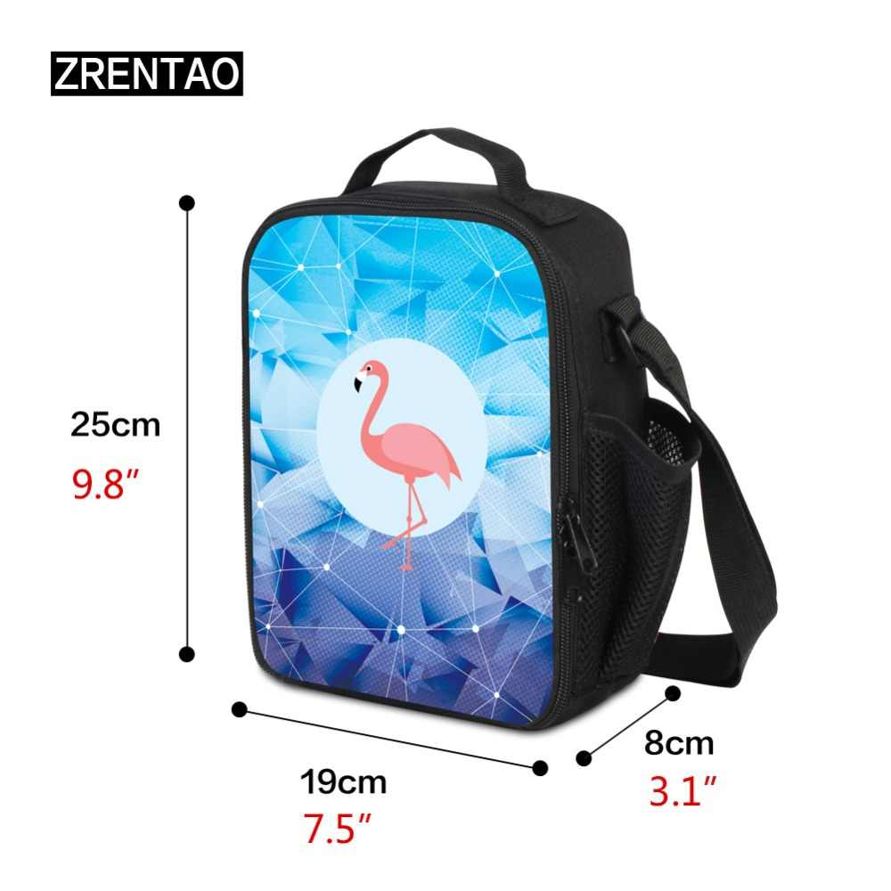 ZRENTAO cooler bolsas para escuela niños voleibol imprimir bolsa de picnic Paquete de comida bolsas térmicas portátiles con aislamiento para el almuerzo