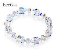 ECCOSA לוקסוס לנצח אהבה טהורה Cryatals אמכור חם אירופיים צמידים & צמידי צמידים לנשים קריסטל סברובסקי