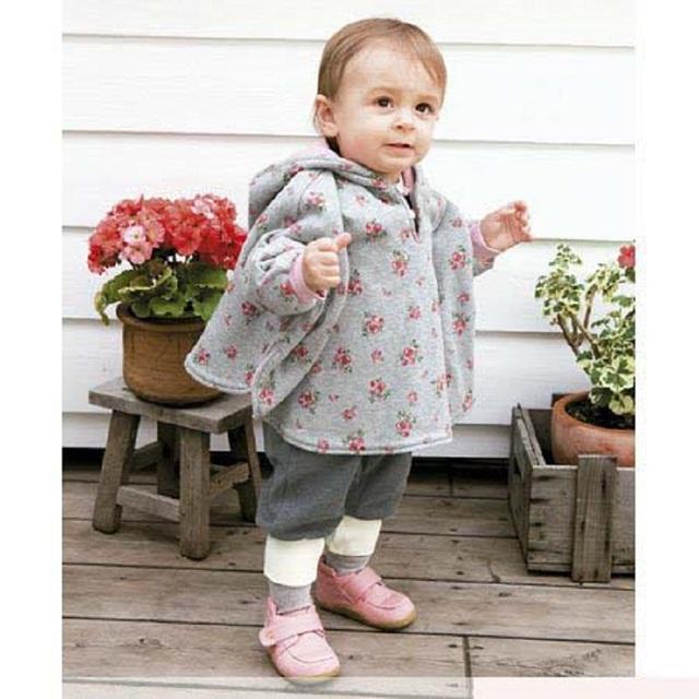 2016 meninas do bebê casaco de inverno infantil casacos com capuz vestido infantil-clothing newborn roupas manto poncho outerwear bebê menina