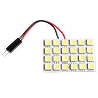 10x) 2* 24 SMD 5050 Wei LED Panel Innenraum Bleuchtung Lampe+T10 Sockel+BA9S Sockel+Soffitte Adapter