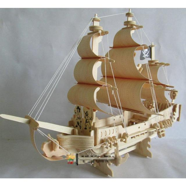 Hand assembled Wooden Battleship Warship Corsair Model Military ...