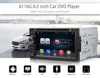2 Din Car DVD Player 6.5 Inch Digital Touch Screen Car Multimedia Player Support WIFI GPS EUROPE/ SOUTH NORTH AMERICA MAP