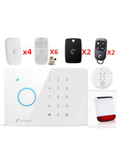 App Control SMS GSM Wireless Security Protection Home usage Alarm system with Solar siren and Pet Friendly PIR motion sensor