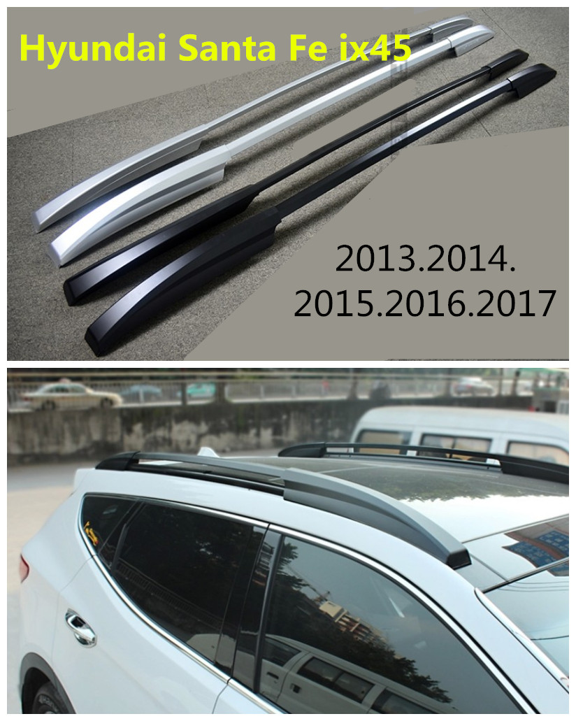 Auto Roof Racks Luggage Rack For Hyundai Santa Fe ix45 2013.2014.2015.2016.2017 High Quality Aluminium Car Accessories partol car roof rack cross bar roof luggage carrier roof rail anti theft lock 60kg 132lbs for 4 door car sedans suvs pickups