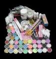 UC-94 Professional 42 Acrylic Liquid Powder Glitter Clipper Primer File Nail Art Tips Tool Brush Tools Set Kit new
