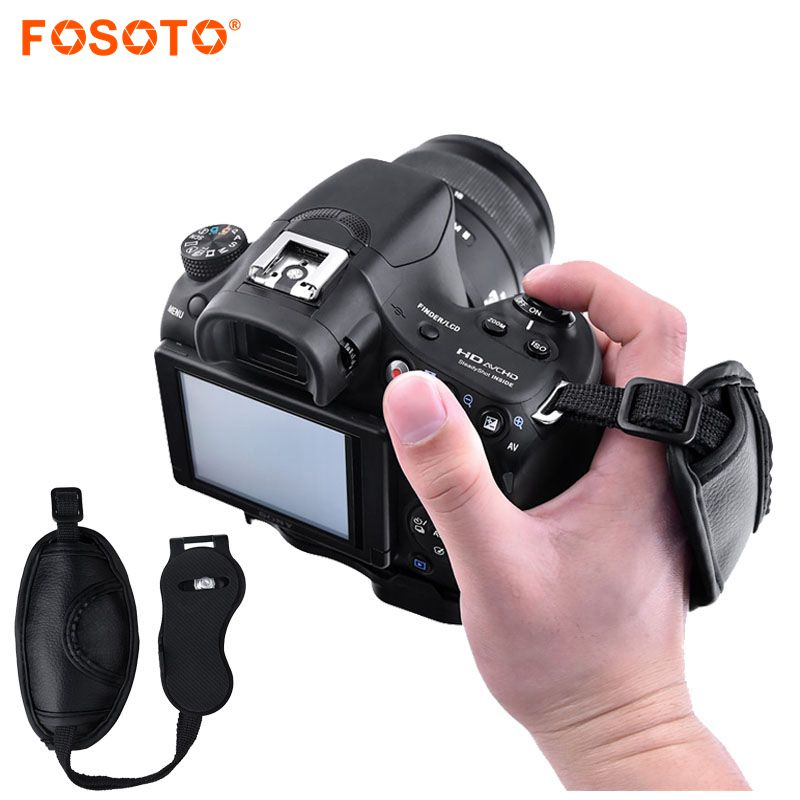 fosoto Camera Hand Wrist Grip Strap Belt for Nikon Sony Canon 5D Mark II 650D 550D 70D 60D 6D 7D Nikon D90 D600 D71 DSLR Camera