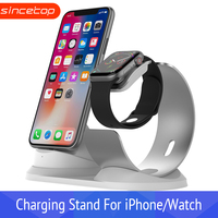 Desk Holder 2 in 1 phone Charging dock station for Apple Watch stand inside cable mobile charger for iPhone 8 support