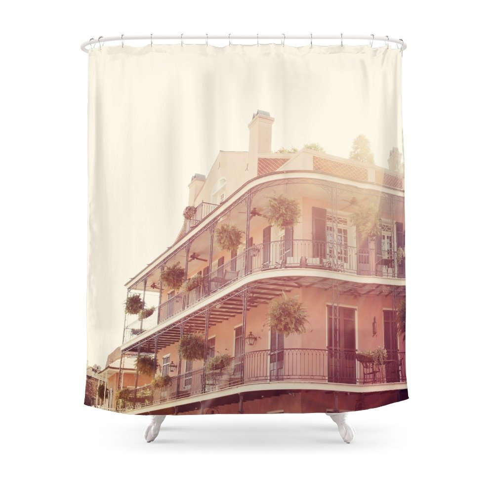 NOLA Sunlight Shower Curtain Set Waterproof Polyester Fabric Bath Curtain For Bathroom With Non-slip Floor Mat