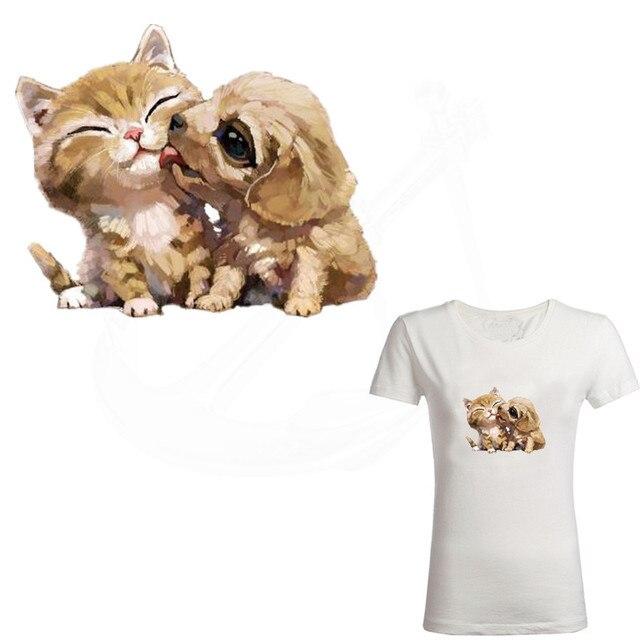 2 шт./лот милые животные Товары для кошек и собак железа на патчи 18*14.66 см DIY нашивка на одежду Термотрансферная наклейки