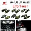 22pc X Canbus Error LED Interior Light Kit Package For Audi A4 S4 B6 B7 Avant