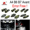 22pc X Canbus Error LED Interior Light Kit Package For Audi A4 S4 B6 B7 Avant