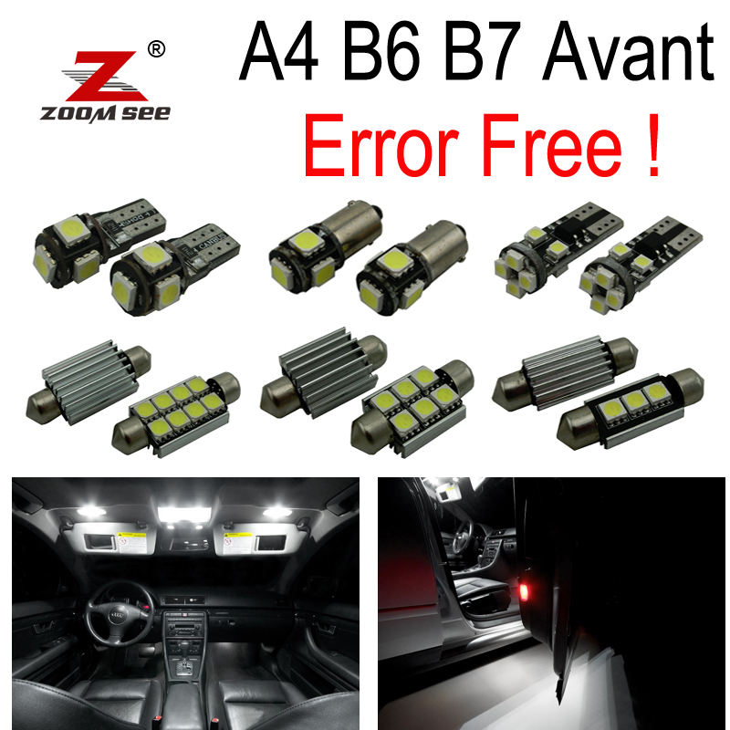 23pc X Canbus Error Free LED bulb interior light Kit Package for Audi A4 S4 RS4 B6 B7 Quattro Avant Wagon ONLY  (2002-2008) buildreamen2 9 x auto 5630 smd led bulb interior map dome step trunk light car led kit package white for toyota camry 2012 2016