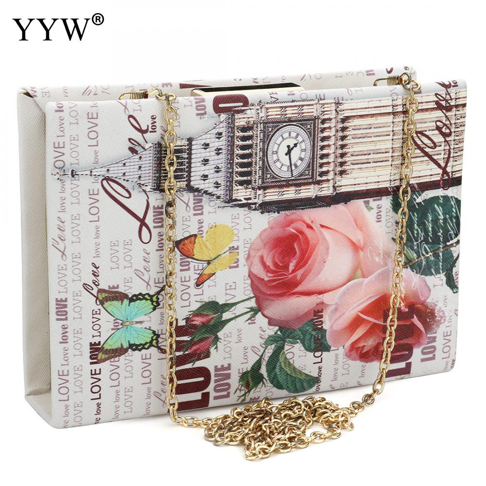 Vintage Luxury Women Bags Evening Party Bag for Female Book Type Clutch Bag Lady's Handbag Famous Brand Chain Crossbody Bag 2018 clutch bag red party bag for women brand luxury blue evening bags women s baguette handbags chain crossbody shoulder bag