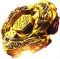 1 шт. Beyblade Металл Fusion 4D Установить L-DRAGO ЗОЛОТО DF105LRF + Launcher Дети Игры Игрушки Рождественский Подарок Гироскопа S40
