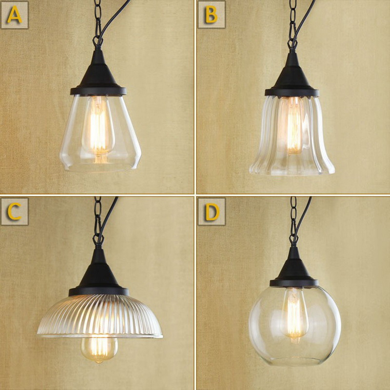 Industrial Retro Loft Style Creative Personality Glass Restaurant Pendant Light Chimney Vintage Cafe Lamp Free Shipping american country loft style creative personality little dog modelling glass study lamp restaurant pendant light free shipping