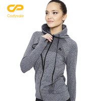 B BANG Women Sports Hoodies Quick Dry Long Sleeve Sweatshirt For Female Fitness Zipper Jacket Hooded